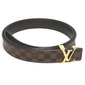 LOUIS VUITTON Sunture Initial Damier Belt